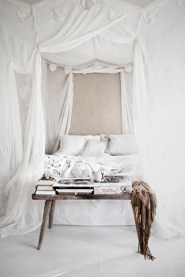 Chambre Hippie Tumblr : White Canopy Beds Tumblr