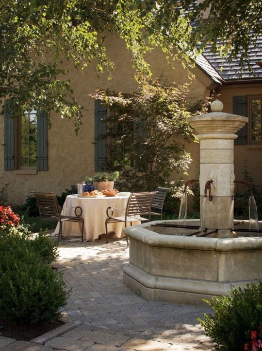 Always liked the idea of an intimate courtyard with a fountain