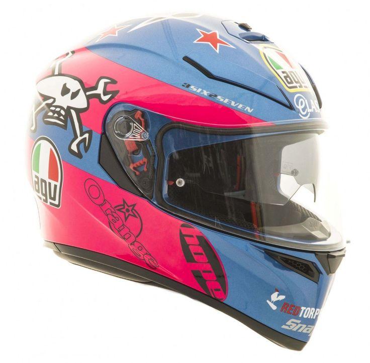 AGV K3 SV Guy Martin Blue/Pink Helmet