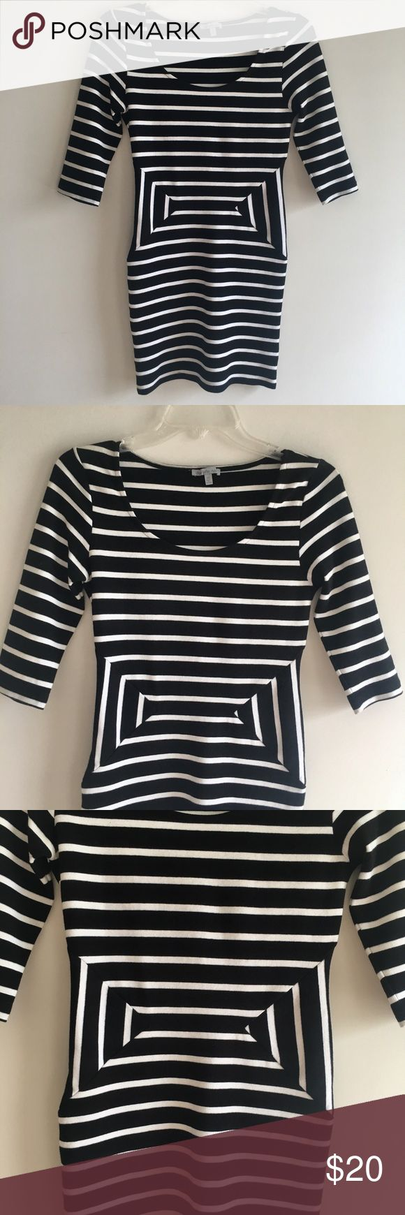 Charlotte Russe Stripe Bodycon Dress Super comfortable, bodycon dress! In very good, pre-loved condition! 95% cotton, 5% spandex. Charlotte Russe Dresses Mini