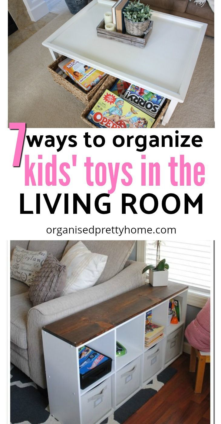 Living Room Toy Storage Ideas Organised Pretty Home Living