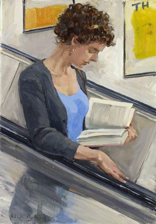 Caught on reading!!! by Nick Botting en las escaleras mecánicas no lo he hecho nunca, pero andando por la alameda ,si
