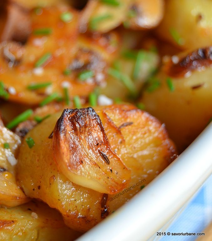 Cartofi noi la cuptor cu ciuperci Savori Urbane (11)