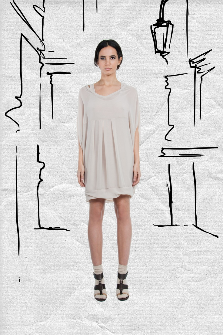JAC Spring 2013. Let the texture of this dress flow free and adorn this look with layered necklaces.