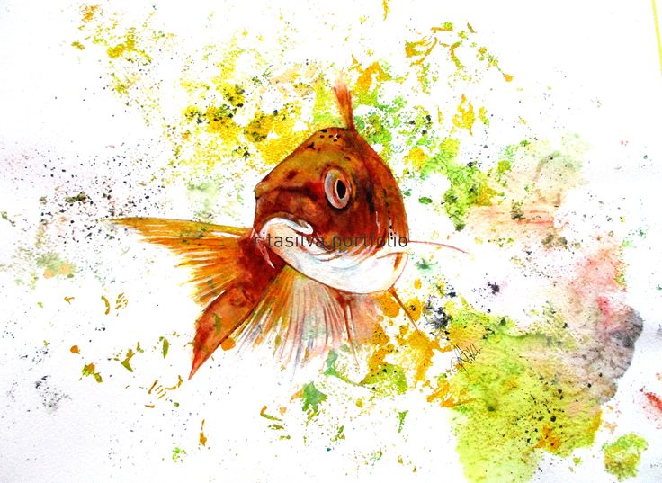 Rita Silva Fine Art – Portfolio  #watercolor, #graphitint, #fish, #artwork, #art, #canvas, #paper