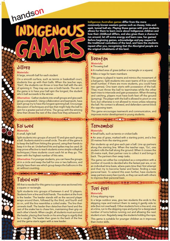 This week's Freebie Friday giveaway is a page of Indigenous games! These games provide a fun variation on more commonly-known western games like chasey, hide-and-seek, tunnel ball etc. As well as being an enjoyable and effective way to burn energy, this hands-on approach is a great way to teach students about this part of Indigenous culture.