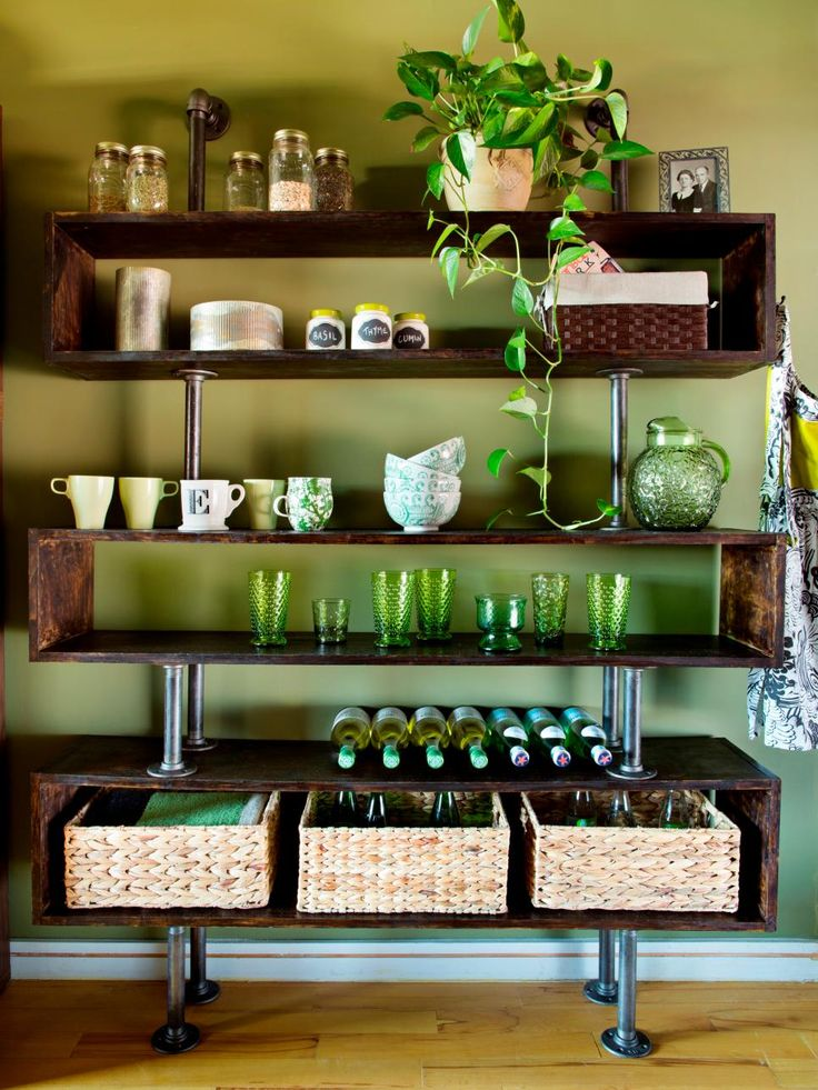 DIY Network shares secrets on how a small kitchen is made more functional by updating storage and creating a more efficient dining area.