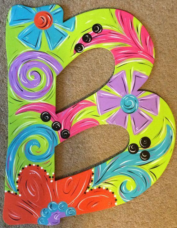Spring / Summer floral letter door hanger by JAGARToriginals