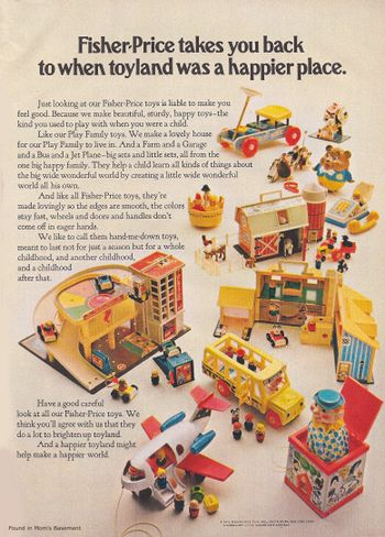 add from 1971: fisher price toys! My childhood!