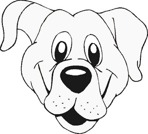 Free Dog Face Template Or Coloring Page