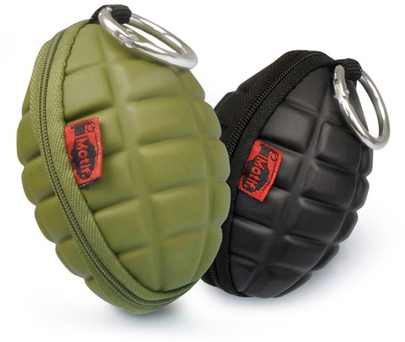 Hand Grenade Key and Coin Cases