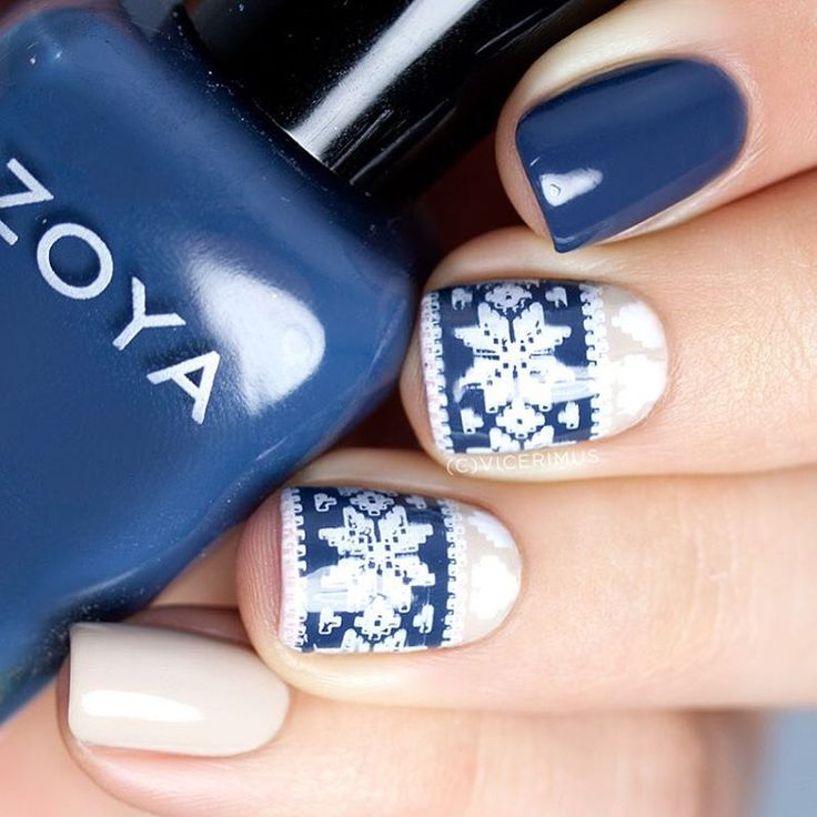 """""""It's that time of year, guys! The time of fair isle nail art (aka sweater nails) is here and I'm honestly excited! I don't care how many times it's been…"""""""