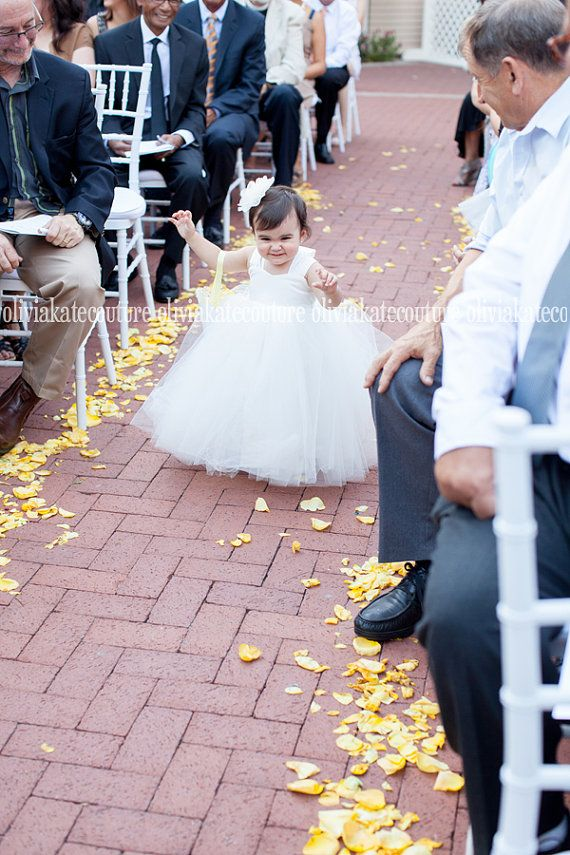 Baby Flower Girl Dress by OliviaKateCouture on Etsy