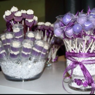 Purple cake pops & push-ups #birthday