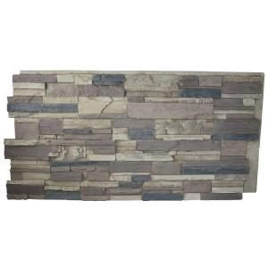 Superior Building Supplies, Rustic Lodge 24 in. x 48 in. x 1-1/4 in. Faux Tennessee Stack Stone Panel, HD-KEN2448-RL at The Home Depot - Mobile
