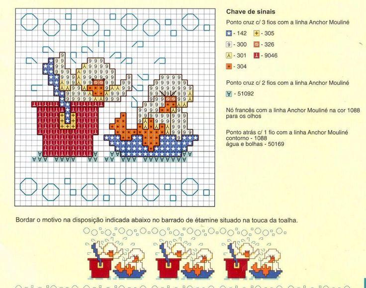 Sandrinha Ponto Cruz: Patinhos para o banho