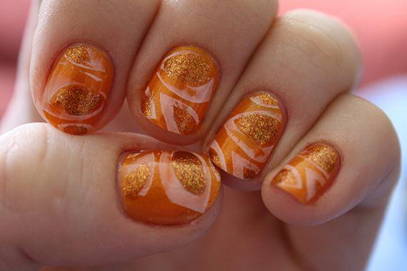119 best images about orange nails on pinterest nail art. Black Bedroom Furniture Sets. Home Design Ideas