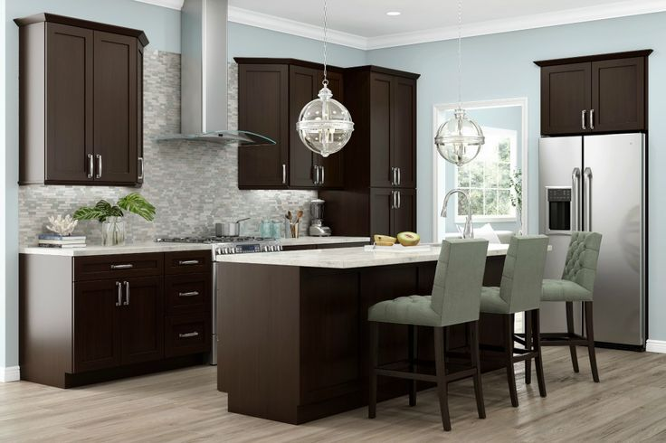 136 best backsplash images on pinterest for Chocolate brown kitchen designs
