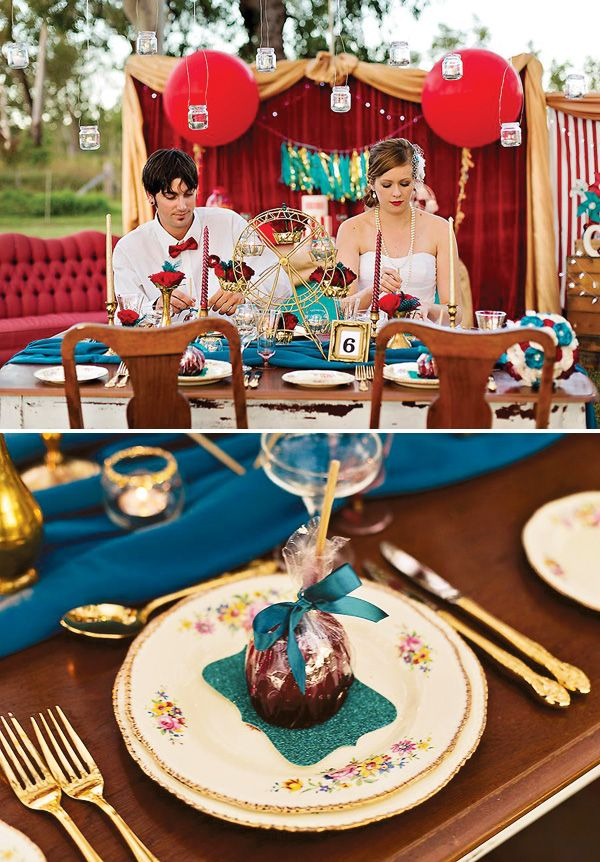 Fabulous Vintage Carnival Wedding Theme