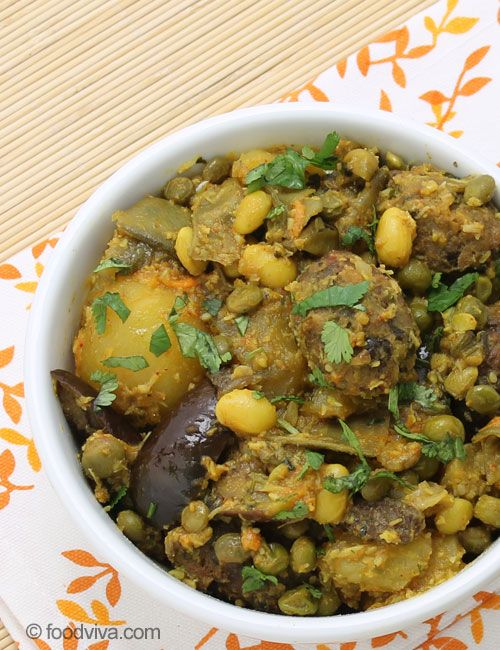 This Traditional Gujarati Undhiyu Recipe Explains How To Make Authentic Surti and Kathiavadi Undhiyu with Methi Muthiya at Home with Detailed Instructions and Step by Step Photos.
