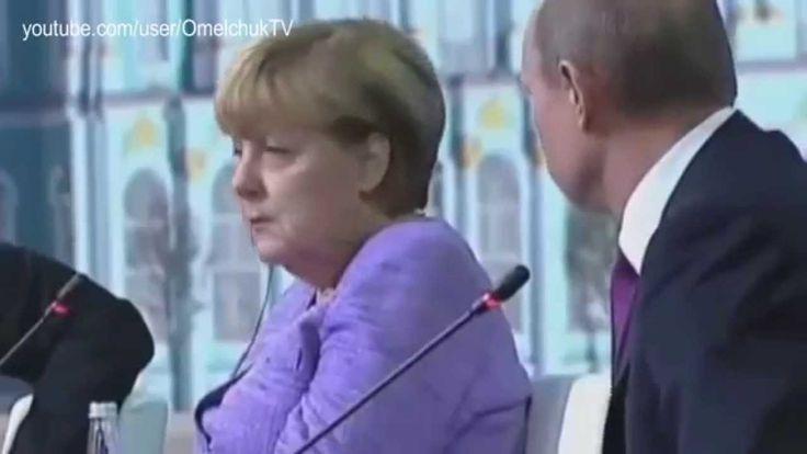 """UVIOO.com - Реакция Меркель на """"юмор"""