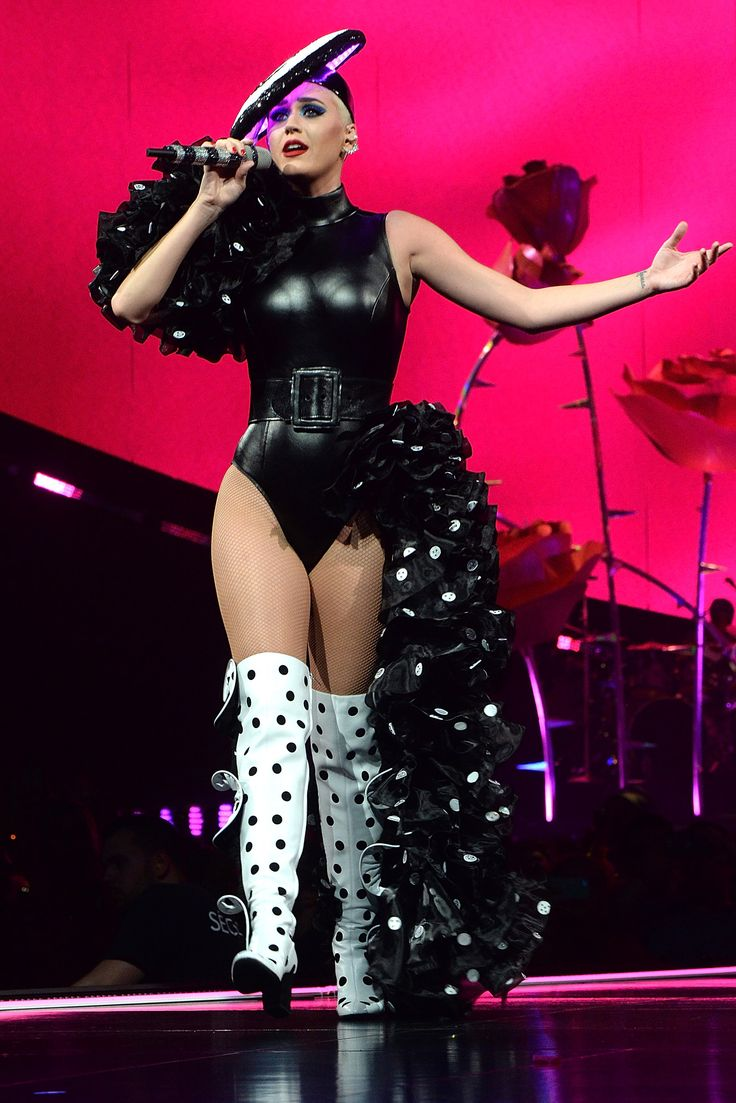 Katy Perry's Witness TourLooks Are Out of This World - Polka Dot Thigh-Highs from InStyle.com