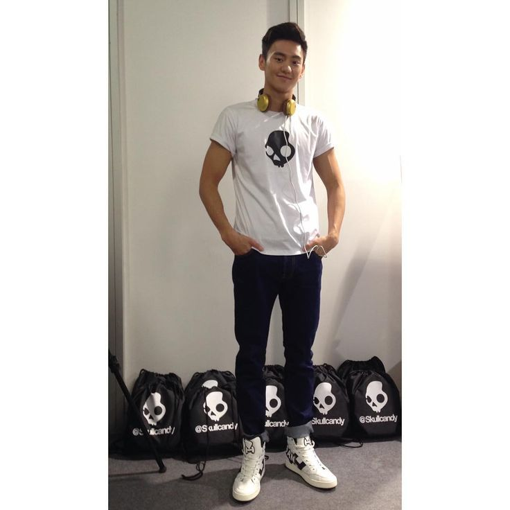 Ning Zetao wearing his #HOGAN H242 Maxi Logo #sneakers in white leather from the #FW1516 Men's Collection.