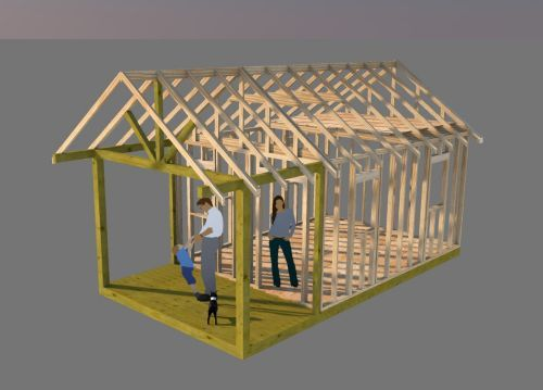 Working On Shed Plans For This 12x16 Gable Shed With 6