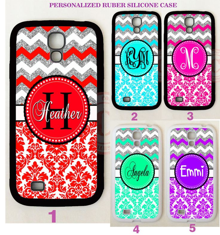 CORAL TEAL PINK DAMASK CHEVRON MONOGRAM Case For Samsung Galaxy S7 S6 NOTE 5 4 #UnbrandedGeneric