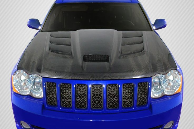 2005-2010 Jeep Grand Cherokee Carbon Creations DriTech Viper Look Hood - 1 Piece