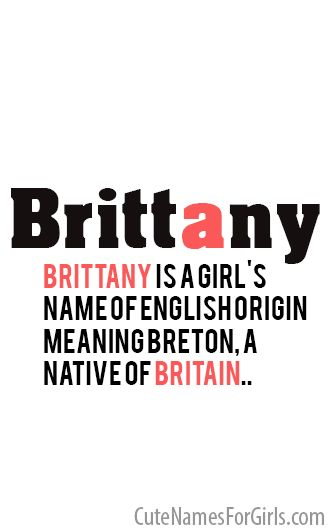 Brittany – baby girl names and meaning