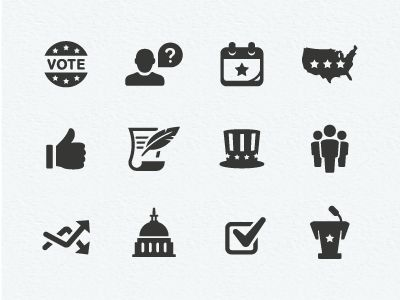 Dribbble - Politics Icons by Scott Dunlap