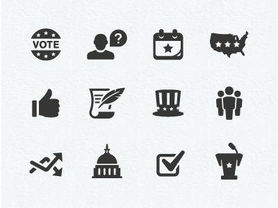 Politics Icons  by Scott Dunlap