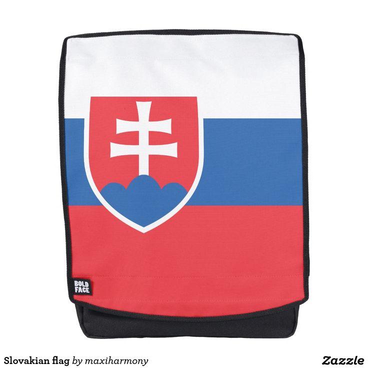Slovakian flag backpack
