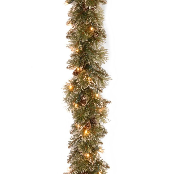 6 ft. Glittery Bristle Pine Pre-Lit Garland - The 6 ft. Glittery Bristle Pine Pre-Lit Garland features a classic design that looks great when display anywhere around the home, both inside and...
