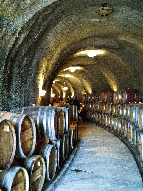 WIne Cave: Toogood Winery in El Dorado County, California.