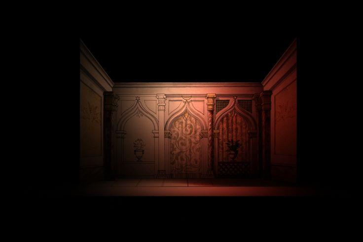 Scenografia modello 3d - interno salone