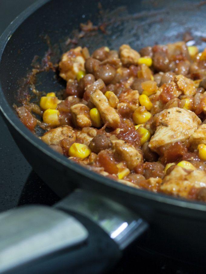 burrito kuřecí maso náplň