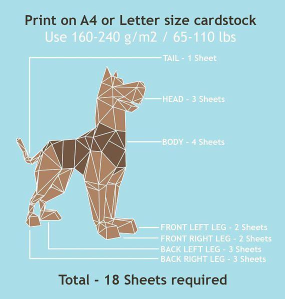 Scooby Doo inspired dog 3d DIY PDF papercraft animal | Balincraft