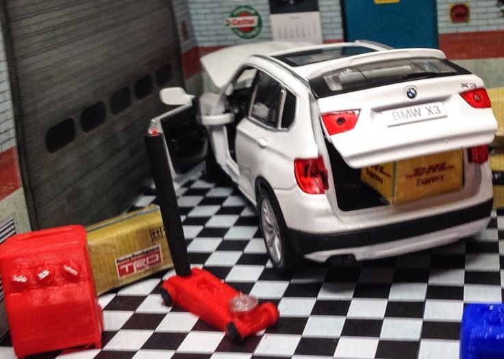 Garage Repair Accessory Set Diecast Model Car
