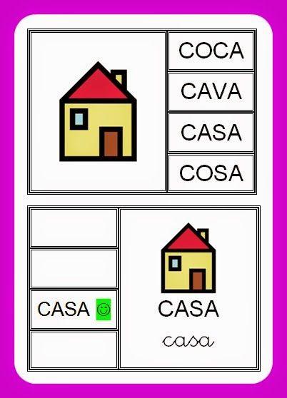 La Caseta, un lloc especial: Joc de lectoescriptura autocorrectiu
