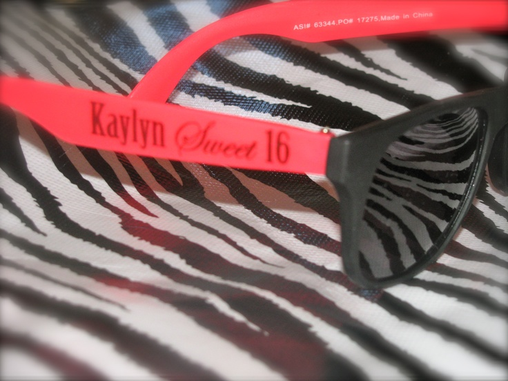 I had glasses made to go with the invitation for my daughters Sweet 16. #sweetsixteen #party