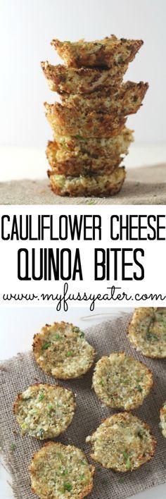 Delicious and healthy Cauliflower Cheese Quinoa Bites.