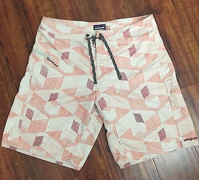 PATAGONIA Geometric Pattern Men's Swim/Active Shorts Size 36  | eBay