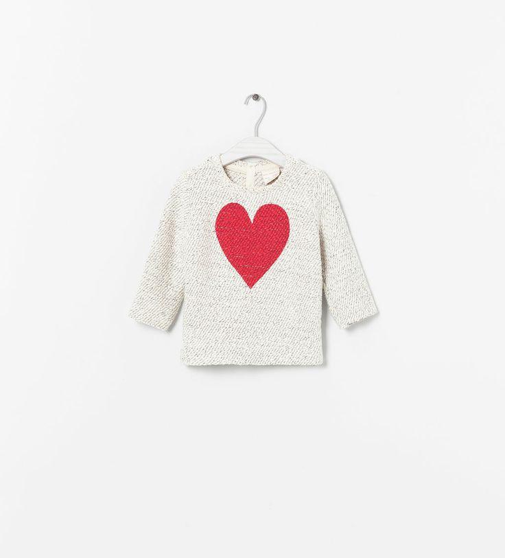 HEART PRINT SWEATER from Zara