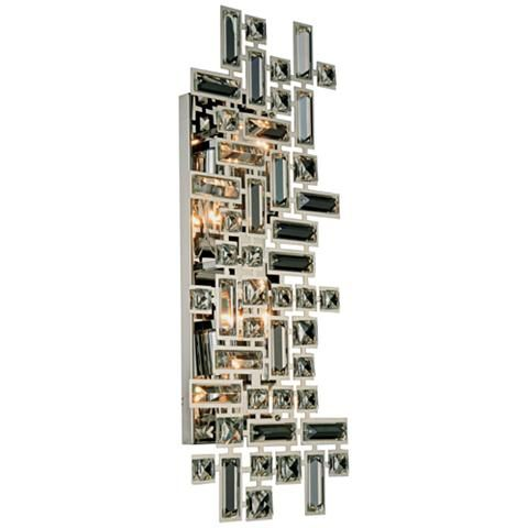 "Picasso 9"" High Chrome 4-Light Wall Sconce"