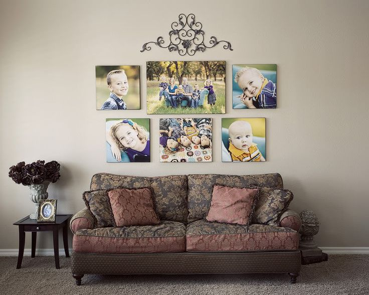 This is the arrangement I am going to do in my family room with our pictures this year!