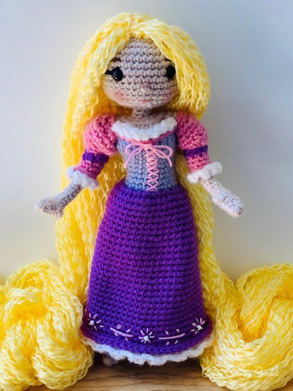 CROCHET PATTERN Rapunzel Doll // Storybook Crochet Pattern // Doll ... | 760x570