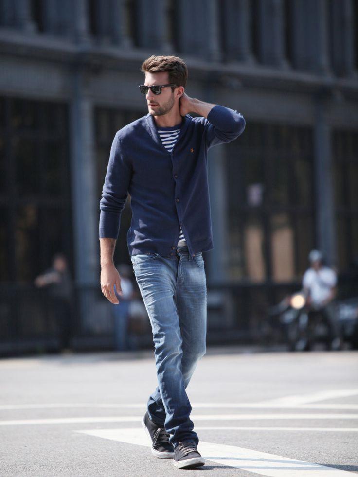 : Men Clothing, Casual Style, Guys Style, Fashion Outfits, Men Style, Blue Jeans, Men Fashion, Casual Looks, Navy Cardigans