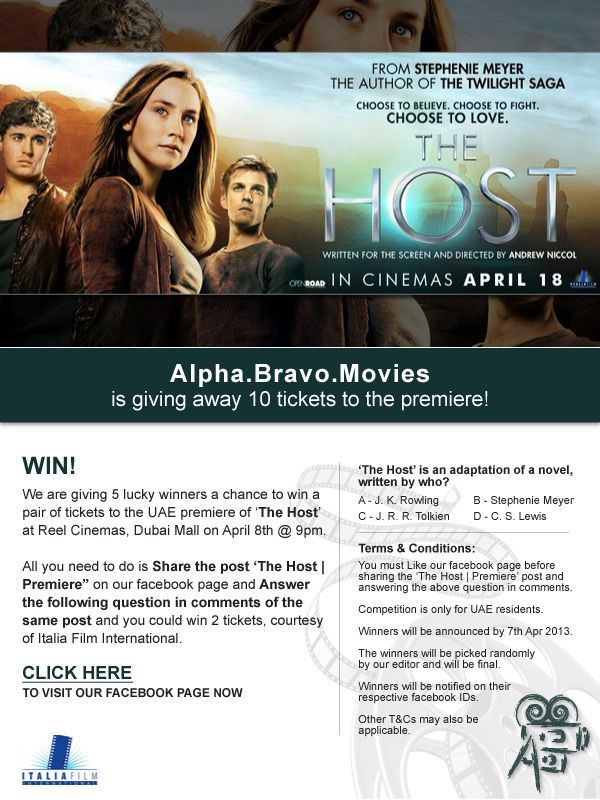 invitation wording for networking event%0A We are giving   lucky winners a chance to win pair of invites to the  premiere of  u    The Host u     at Reel Cinemas  Dubai Mall on April at All you need  to do